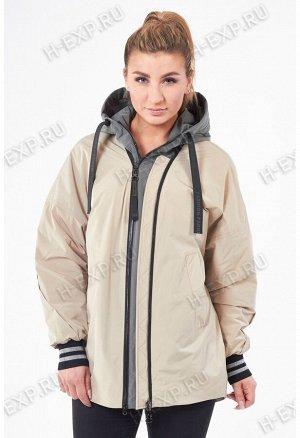 Куртка весна-осень женская Tongcoi 2103 (910+477) Бежевый
