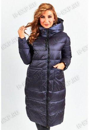 Куртка двухсторонняя удлиненная женская Tongcoi 7187 (790) Темно-синий