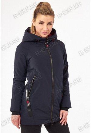 Куртка весна-осень женская удлиненная Grace 1502 (006) Темно-синий