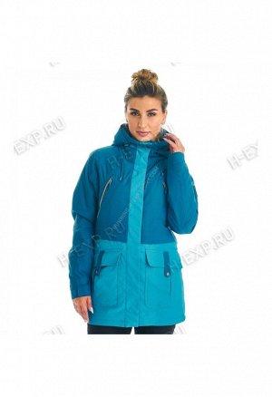 Куртка сноубордическая женская голубая A8010 238