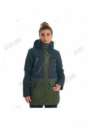 Куртка сноубордическая женская хаки A8010 077