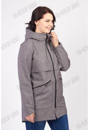 Парка весна-осень женская удлиненная WHS 9032 (H01) Серый