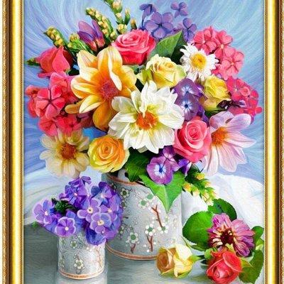 💎 Хит! Картины по номерам! — ⚜ Алмазная живопись ⚜ Цветы ⚜ — Мозаики и фреска