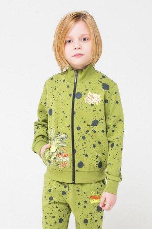 Жакет(Осень-Зима)+boys (зеленый, брызги краски к1251)