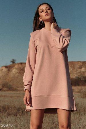 Розовое спортивное платье-мини