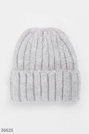 Трендовая шапка-бини из фактурного материала
