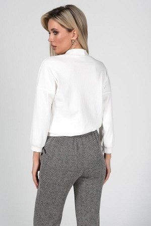 Блузка Флер №1.Цвет:белый