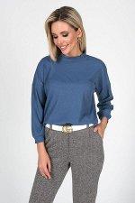 Блузка Флер №2.Цвет:синий