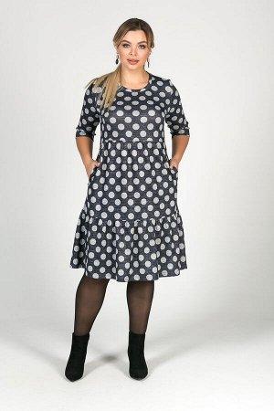 Платье Любовь №25.Цвет:горох/люрекс