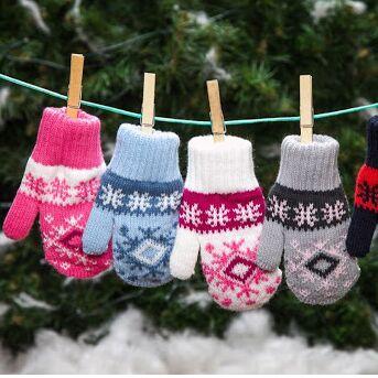 Детские носочки. Ангора, махра. Тепло и уютно — Детские перчатки и варежки