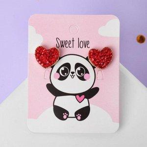"Серьги со стразами ""Сердце"" sweet love"