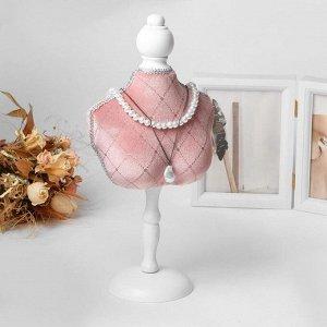 """Подставка для урашений """"Силуэт"""" бюст, h=36 см, цвет розовый"""