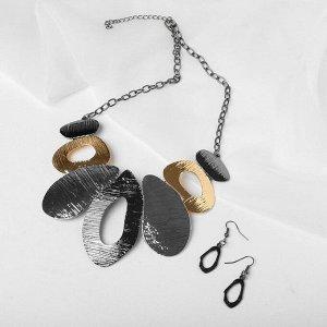 """Набор 2 предмета: серьги, колье """"Африка"""" абстракция, цветной, L=43"""