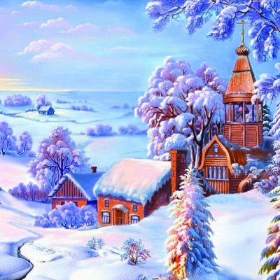 💎 Хит! Картины по номерам! — ⚜ Алмазная живопись ⚜ Зима и новый год ⚜ — Мозаики и фреска