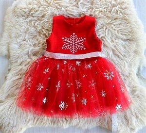Платье «Снежинка» КРАСНЫЙ