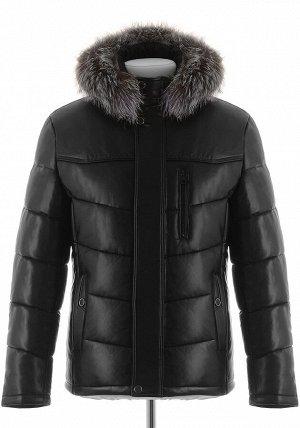 Мужская зимняя куртка из PU-кожи DC-2109