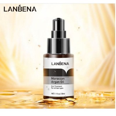 👍Шикарная LANBENA и BREYLEE. Работает 100% — LANBENA марокканское аргановое масло для волос — Масла