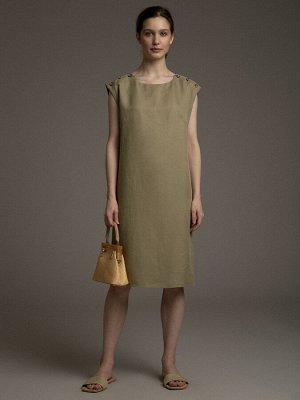 Платье Состав ткани: Хлопок 47%, Вискоза 37%, Лен 16% Длина: 92 См. Описание модели Модно и практично. Эта модель будет уместна и на работе и там, куда можно отправиться после трудового дня. Платье пр