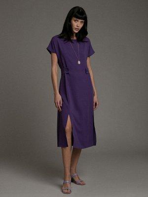 Платье Состав ткани: 55% Вискоза; 45% Полиэстер Длина: 115 См. Описание модели Стиль в деталях. Платье А-силуэта загадочного цвета, дополнено эффектными деталями. Разрезы, позволяющие немного пококетн