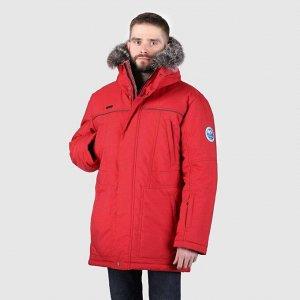 Мужская зимняя куртка красный