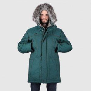 Мужская зимняя куртка зеленый