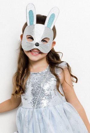 Маска карнавальная детская Zaya серебряный