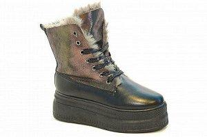 Ботинки 6000-11 черн/ бронза