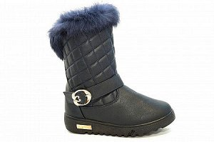 Сапожки на меху D806-2 синие