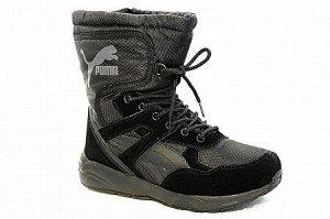 Кроссовки на меху 6258-1 черн