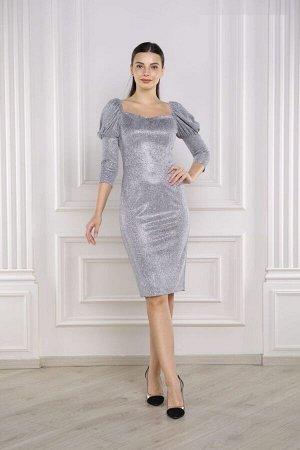 Платье с рюлексом