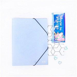 """Папка на резинке MESHU """"Dew"""", А4, 500мкм, vanila sky"""