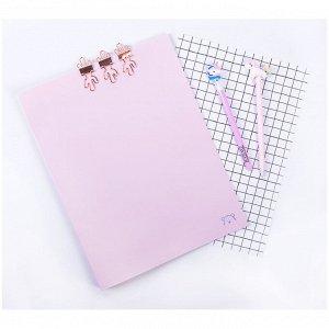 """Папка с пружинным cкоросшивателем MESHU """"Dew"""", 17мм, 500мкм, pink dreams"""