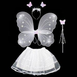 Костюм Фея Великолепные крылья, которые подойдут для создания образа Бабочки, Дюймовочки, Феи или Эльфа. Подходят как маленьким девочкам, так и взрослым в качестве праздничного, карнавального костюма