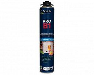 Проф. пеногерметик Bostik BOSTIK противопожарная пена PRO B1, 700 мл (12/уп)