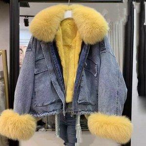 Куртка джинсовая зимняя