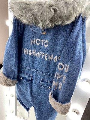 Куртка джинсовая длинная