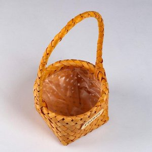 Корзина плетеная, секвойя, 17х10/29,5 см, натуральный