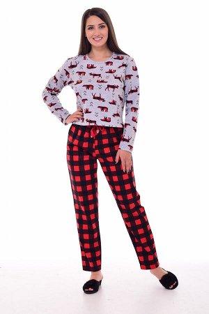 Пижама женская 1-192 (красный)