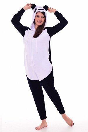 Пижама женская Кигуруми Панда 1-187 (темно-синий)