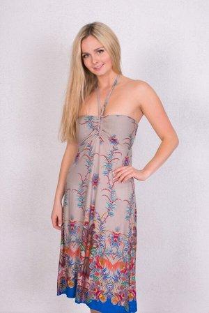 Платье 45708213 цвет Бежевый