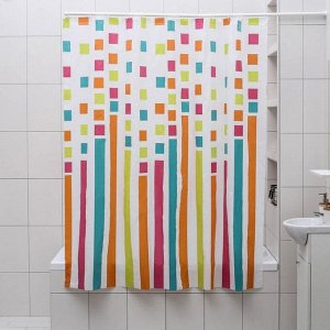 Штора для ванной комнаты Доляна «Палитра», 180?180 см, EVA