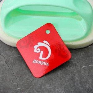 Щётка абразивная с пластиковым держателем Доляна, 8,5?7?14 см