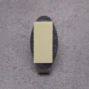 Набор крючков на липучке Доляна «Овал», 6 шт, металл