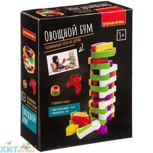 Развивающие игры из дерева Игра-баланс ОВОЩНОЙ БУМ (башня из овощей) ВВ4179, ВВ4179