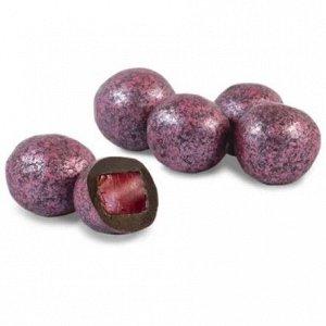 Драже мармелад со вкусом вишни в темной шоколадной глазури, 500 гр