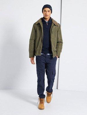 Куртка с воротником из искусственного меха
