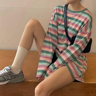 Street style модная мега-удобная одежда! Низкая цена! — Лонгсливы свободного кроя — Водолазки и лонгсливы