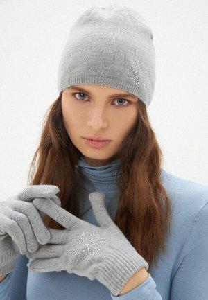 Перчатки с узором «Снежинка», цвет серый