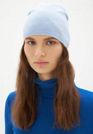 Шапка с узором «Снежинка», цвет голубой