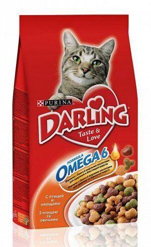 "Корм сухой ""Darling"" для кошек, с птицей и овощами"